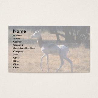 Dama Gazelle Business Card