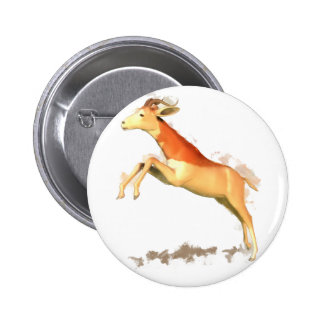 Dama Gazelle Pinback Button