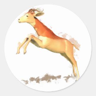 Dama Gazelle Round Sticker