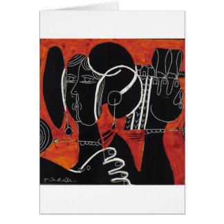 dama greeting card