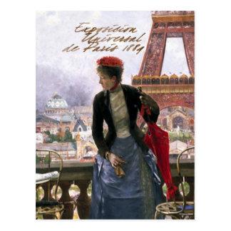Dama Paris Post Card