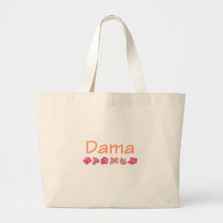 Dama (peach color) canvas bags