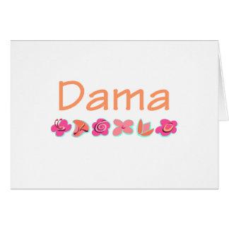 Dama (peach color) card
