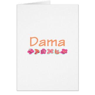 Dama (peach color) greeting card