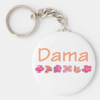 Dama (peach color) keychain