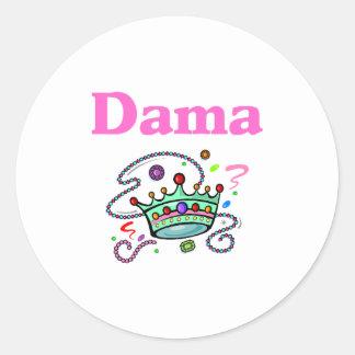 Dama Round Sticker