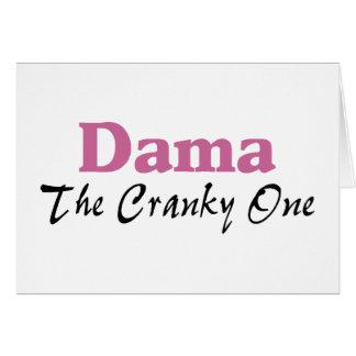 Dama The Cranky One Greeting Card