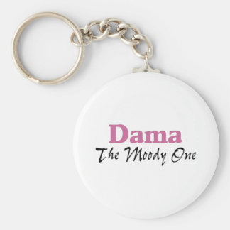 Dama The Moody One Basic Round Button Keychain