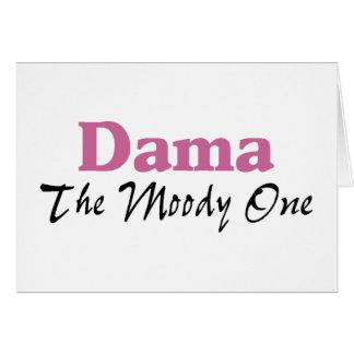 Dama The Moody One Greeting Card