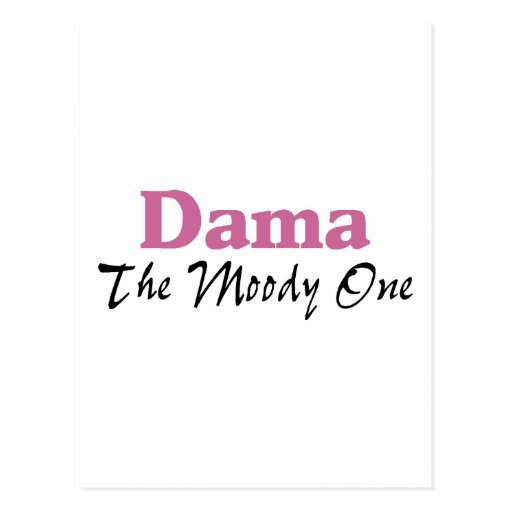 Dama The Moody One Postcards