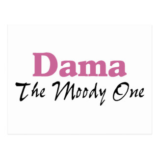 Dama The Moody One Postcard