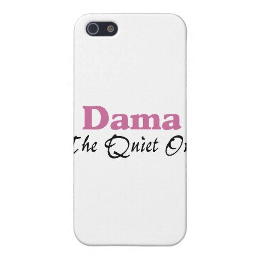 Dama The Quiet One iPhone 5 Covers
