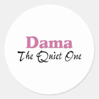 Dama The Quiet One Round Sticker