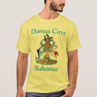 Damas Cays, Bahamas with Coat of Arms T-Shirt