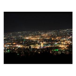 Damascus at night - Syria Postcard