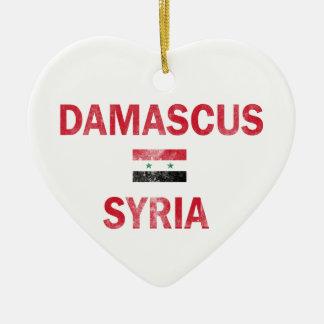 Damascus Syria Designs Ceramic Heart Ornament