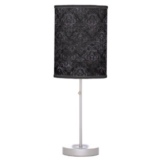 DAMASK1 BLACK MARBLE & BLACK WATERCOLOR TABLE LAMP