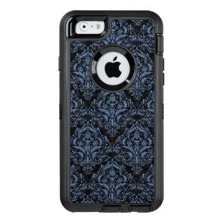 DAMASK1 BLACK MARBLE & BLUE DENIM OtterBox DEFENDER iPhone CASE