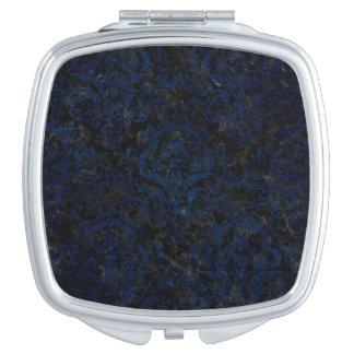 DAMASK1 BLACK MARBLE & BLUE GRUNGE MAKEUP MIRRORS