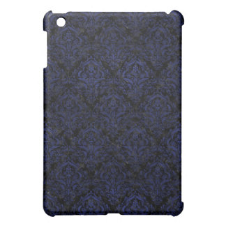 DAMASK1 BLACK MARBLE & BLUE LEATHER CASE FOR THE iPad MINI