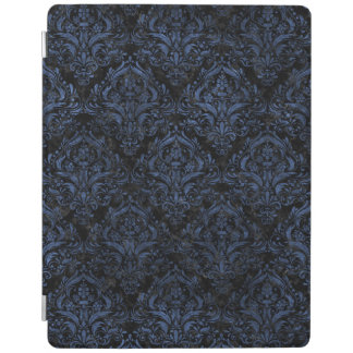 DAMASK1 BLACK MARBLE & BLUE STONE iPad COVER