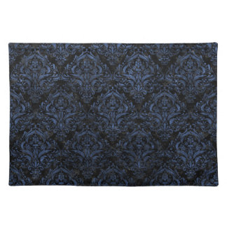 DAMASK1 BLACK MARBLE & BLUE STONE PLACEMAT