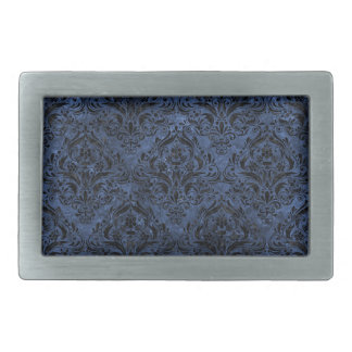 DAMASK1 BLACK MARBLE & BLUE STONE (R) BELT BUCKLE
