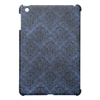 DAMASK1 BLACK MARBLE & BLUE STONE (R) iPad MINI COVERS