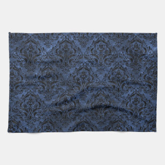 DAMASK1 BLACK MARBLE & BLUE STONE (R) TOWELS