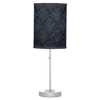 DAMASK1 BLACK MARBLE & BLUE STONE TABLE LAMP