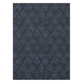 DAMASK1 BLACK MARBLE & BLUE STONE TABLECLOTH
