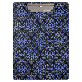 DAMASK1 BLACK MARBLE & BLUE WATERCOLOR CLIPBOARD