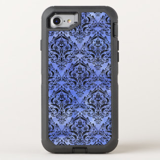DAMASK1 BLACK MARBLE & BLUE WATERCOLOR (R) OtterBox DEFENDER iPhone 8/7 CASE