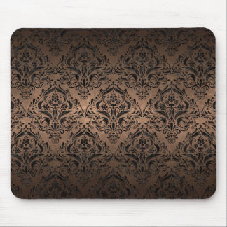 DAMASK1 BLACK MARBLE & BRONZE METAL (R) MOUSE PAD