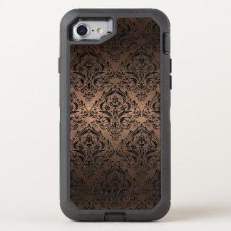 DAMASK1 BLACK MARBLE & BRONZE METAL (R) OtterBox DEFENDER iPhone 8/7 CASE