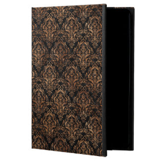 DAMASK1 BLACK MARBLE & BROWN STONE POWIS iPad AIR 2 CASE