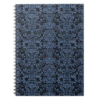 DAMASK2 BLACK MARBLE & BLUE DENIM NOTEBOOK