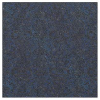 DAMASK2 BLACK MARBLE & BLUE GRUNGE (R) FABRIC