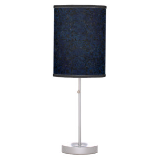 DAMASK2 BLACK MARBLE & BLUE GRUNGE TABLE LAMP