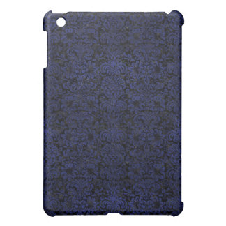 DAMASK2 BLACK MARBLE & BLUE LEATHER COVER FOR THE iPad MINI