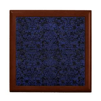 DAMASK2 BLACK MARBLE & BLUE LEATHER GIFT BOX