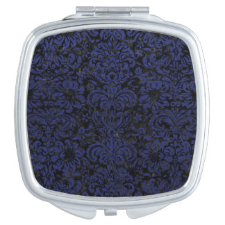 DAMASK2 BLACK MARBLE & BLUE LEATHER VANITY MIRRORS