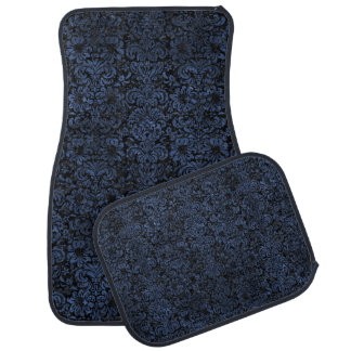 DAMASK2 BLACK MARBLE & BLUE STONE CAR MAT