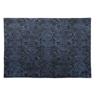 DAMASK2 BLACK MARBLE & BLUE STONE PLACEMAT