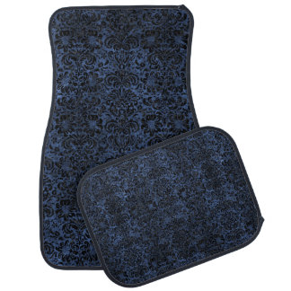 DAMASK2 BLACK MARBLE & BLUE STONE (R) CAR MAT