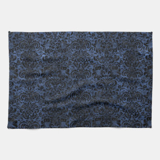 DAMASK2 BLACK MARBLE & BLUE STONE (R) KITCHEN TOWEL