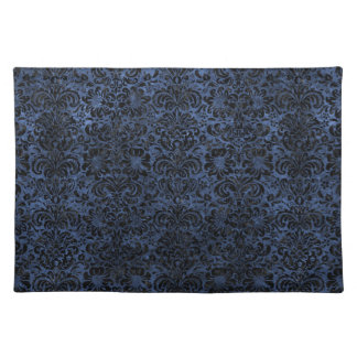 DAMASK2 BLACK MARBLE & BLUE STONE (R) PLACEMAT
