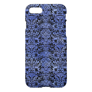 DAMASK2 BLACK MARBLE & BLUE WATERCOLOR iPhone 8/7 CASE