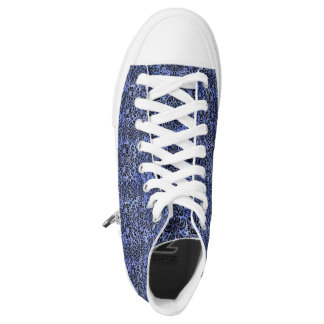 DAMASK2 BLACK MARBLE & BLUE WATERCOLOR (R) HIGH TOPS