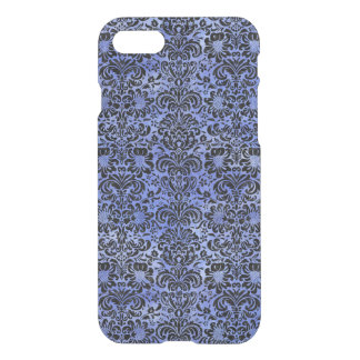 DAMASK2 BLACK MARBLE & BLUE WATERCOLOR (R) iPhone 8/7 CASE